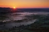sunrise as seen from Vezelay, credit Mike Long