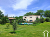 5 bedroom French house (300m2), with large gardens (4170m2), pool, independent gite (24m2) and views Ref # MPPOP0092
