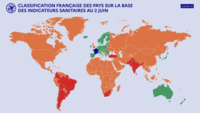 colour per country determines conditions for visiting France