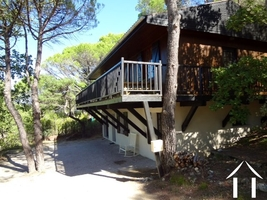 House with views in Mediterrenaen woods close to village