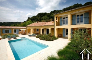 Villa with guestroom, heated pool and stunning views