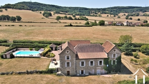 Manor house with gites, pool and views