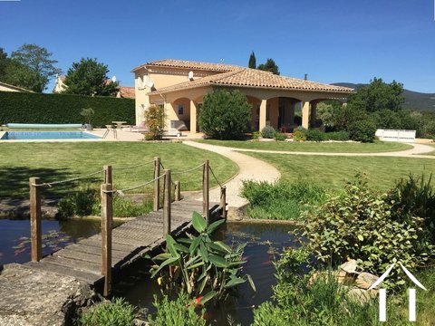 Villa with pool and views near a bike track in a AOC region Ref # 11-2393
