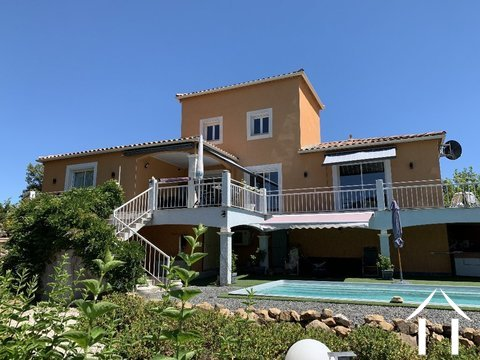 Mediterranean villa with pool and stunning views in Lamalou  Ref # 2401