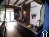 galley kitchen in owners house