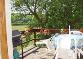 each barn apartment has a balcony and great views over the fields