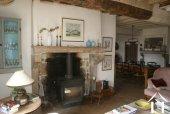 Burgundy fireplace
