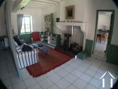 House with 6 rental units and pool in burgundy countryside Ref # MP5066V image 7 Living room in downstairs apartment in Farmhouse