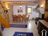 Converted farmhouse with guest house and barns Ref # CR5067BS image 3 Eating corner in kitchen