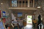inside of barn with atelier in mezzanine