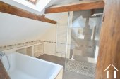 shower and bath in bathroom upstairs