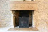 18th century stone fireplace