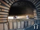 Inside bread oven