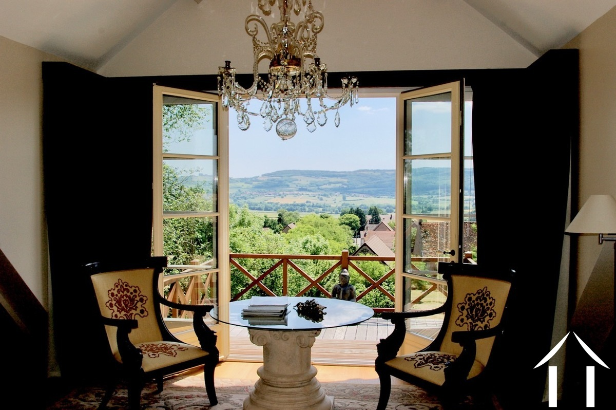 Large and comfortable country house with lovely views.