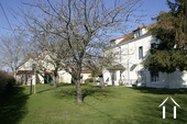 Maison de Maitre with 7 bedrooms & gîte Ref # CR5002BS image 1 View from the garden