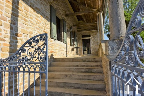 3 bedroom stone house in village north of Cluny Ref # JP4964S