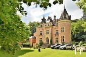 Fairytale castle in south Burgundy