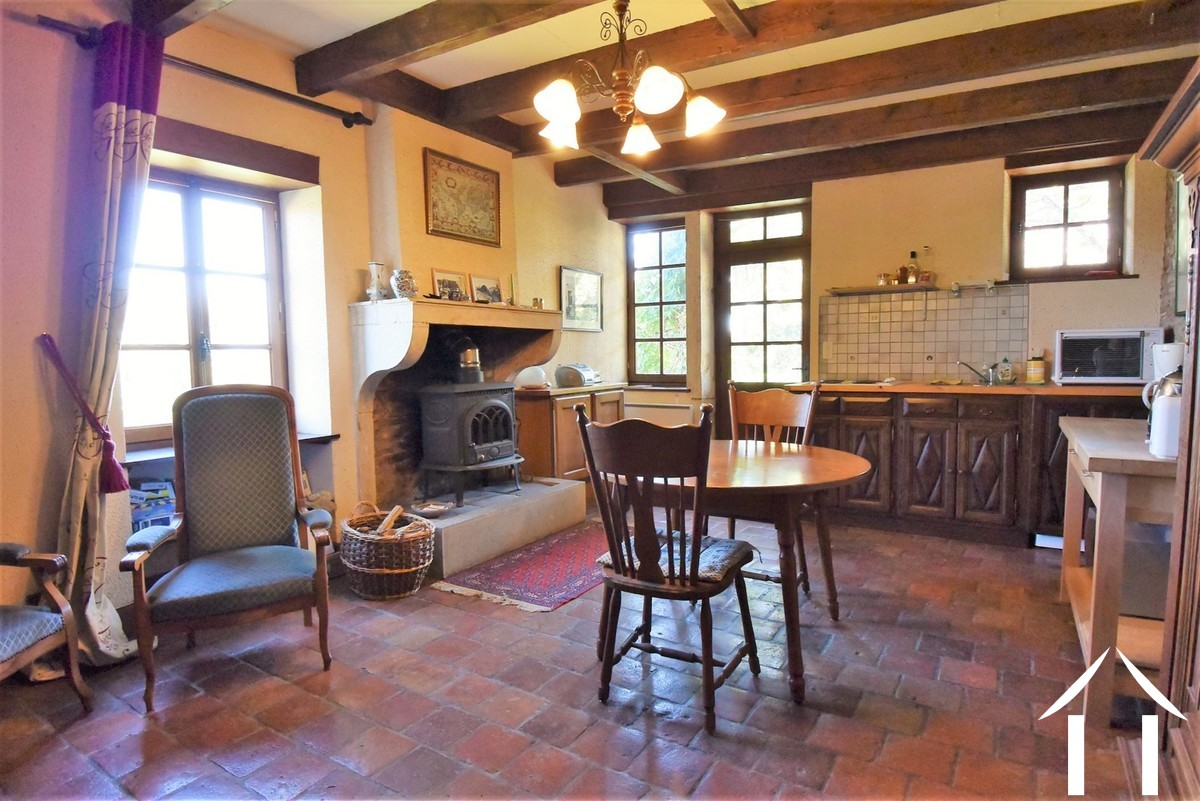 1 bedroom stone house with large barn and courtyard