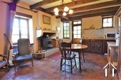 1 bedroom stone house with large barn and courtyard Ref # JP4852S image 2 open plan living space