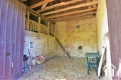 1 bedroom stone house with large barn and courtyard Ref # JP4852S image 4 high barn with access to stable mezzanine