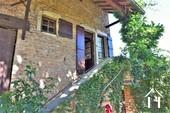 1 bedroom stone house with large barn and courtyard Ref # JP4852S image 7 stone steps to Maconnais balcony
