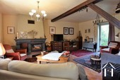 Renovated country house with barn, pool and great views Ref # JP4848S image 2 living room with access to the garden