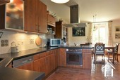 Renovated country house with barn, pool and great views Ref # JP4848S image 3 contemporary kitchen with dining area