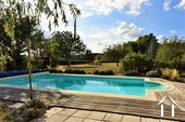 Renovated country house with barn, pool and great views Ref # JP4848S image 7 attractive gardens beyond the pool area