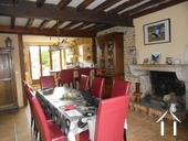 Charming Stone House with Lovely Gardens Ref # RT5088P image 2 Living area with fireplace