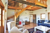 Renovated Bressane farmhouse, garage and large garden, Ref # JP4938B image 3 High living room with mezzanine