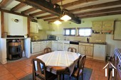 Renovated Bressane farmhouse, garage and large garden, Ref # JP4938B image 2 Fitted kitchen with dining area