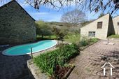 Burgundy house with views on vineyards Ref # CR5024BS image 2 Terracce, pool, garden & view