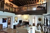 Classic manor house on the river Saone Ref # JP5071B image 3 grand salon with mezzanine