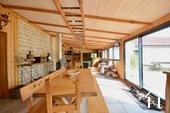 dining area in 77m2 heated veranda area.