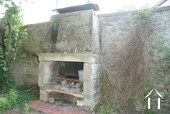 Character 19th Century House & Buildings Ref # RT4997P image 20 Stone fireplace/grill in courtyard