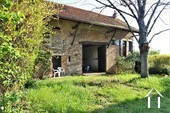 1 bedroom stone house with large barn and courtyard Ref # JP4852S image 6 south facing courtyard in front of property