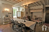 Character property with 6 en-suite bedrooms and large barns  Ref # JP4999S image 2 large dining room with character