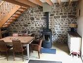 Ready to use 2 bedroom house, with small garden Ref # BH5025BS image 9 dining room with JOTUL wood burner