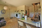 Renovated farmhouse with guest area and great views  Ref # JP5026S image 15 second living room with corner kitchen