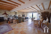 Cosy farm with 4 ha of land, south of Autun Ref # BH5045V image 2 75m2 salon