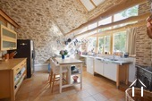 Cosy farm with 4 ha of land, south of Autun Ref # BH5045V image 3 open kitchen ready to use.