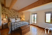 Cosy farm with 4 ha of land, south of Autun Ref # BH5045V image 4 master bedroom with those great views