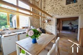 Cosy farm with 4 ha of land, south of Autun Ref # BH5045V image 9 open kitchen, but still separated bu pointed wall
