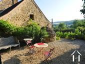 Charming 19th Century House + Barn Conversion with Views. Ref # RT5076P image 22 Morning terrace