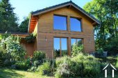 Newly built wooden chalet with great views