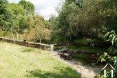 Lovely garden with stream