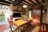 Character house with views on the Morvan hills Ref # CR5086BS image 1 Kitchen with open fire