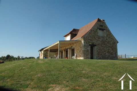 Energy efficient stone house with view on 4.5 ha.  Ref # GVS4840C