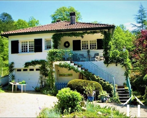 Nice house with cottage on the edge of a village on a river. Ref # GVS4882C Main picture