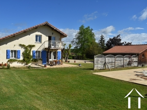 Contemporary property with detached gite, pool and views. Ref # BE4536 Main picture
